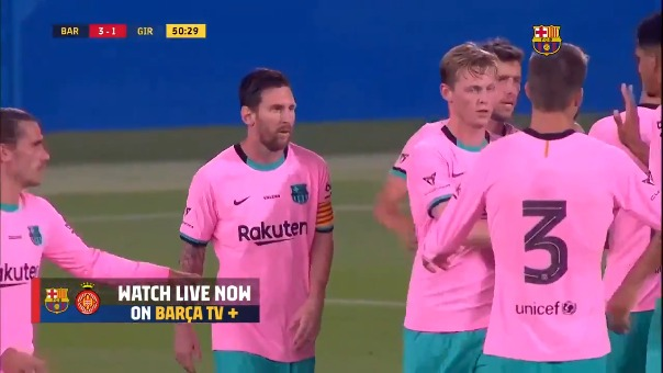Segundo gol de Lionel Messi en el Barcelona vs. Girona