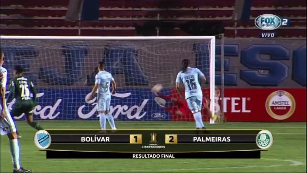 Palmeiras venció 2-1 a Bolívar por la Copa Libertadores