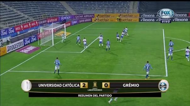 Universidad Católica sumó sus primeros tres puntos en la Copa Libertadores