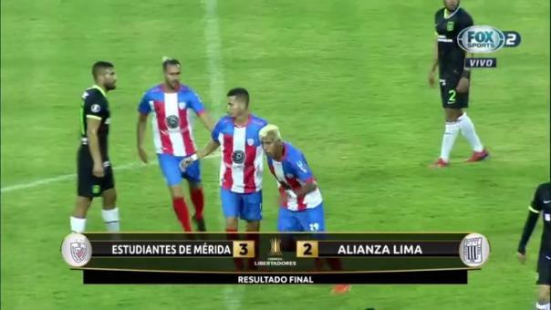 Alianza Lima cayó 3-2 ante Estudiantes de Mérida por la Copa Libertadores