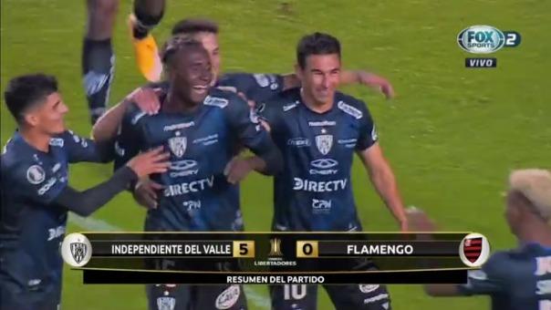 Independiente del Valle goleó 5-0 a Flamengo por la Copa Libertadores