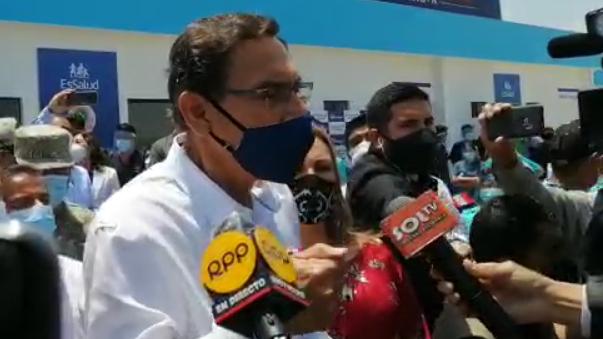 Presidente dijo que el Perú no puede parar y seguirá trabajando.