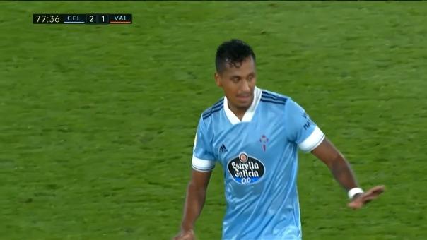 Renato Tapia se lesionó en el partido ante Valencia