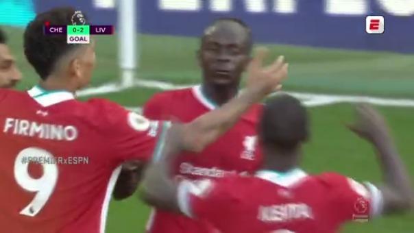Chelsea 0-2 Liverpool: así fue el segundo gol de Sadio Mané