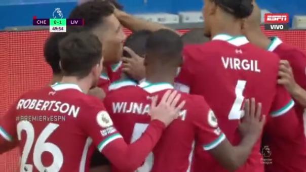 Chelsea 0-1 Liverpool: así fue el gol de Sadio Mané