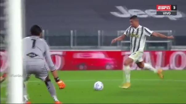 Cristiano Ronaldo anotó de esta manera.