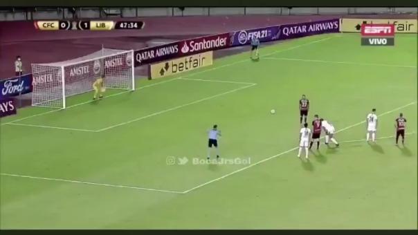 Gol de Jorge Echevarría de Caracas