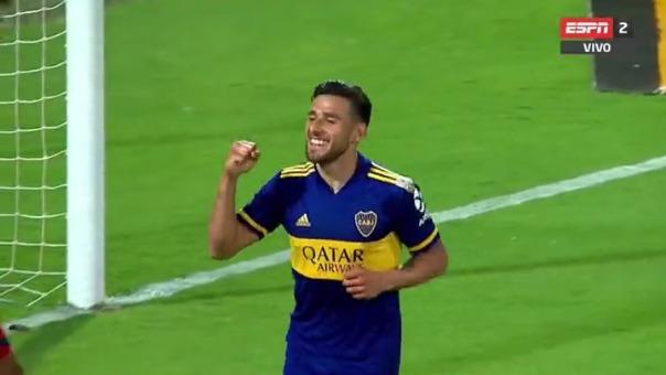 Eduardo Salvio anotó el único gol del partido