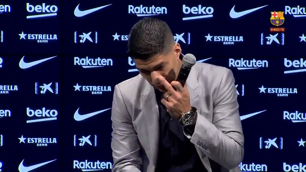Luis Suárez rompió en llanto.