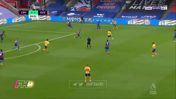 James Rodríguez dio magistral pase que culminó en gol de Everton ante Crystal Palace
