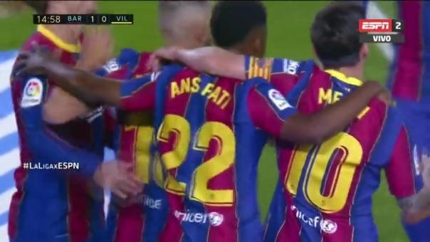 Barcelona 1-0 Villarreal: así fue el primer gol de Barcelona