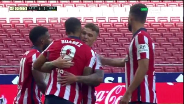 Así fue el segundo gol de Luis Suárez en Atlético de Madrid