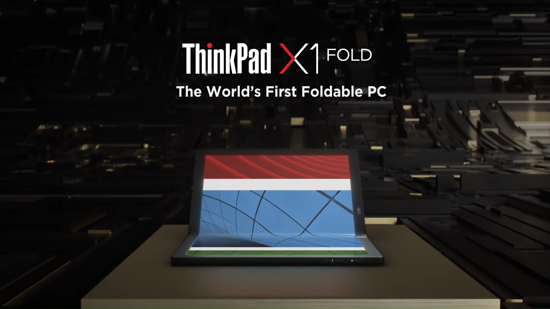 Así es la ThinkPad X1 Fold.