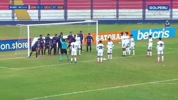 UCV puso a sus once jugadores en fila en el partido ante USMP.