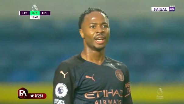 Gol de Raheem Sterling ante Leeds United