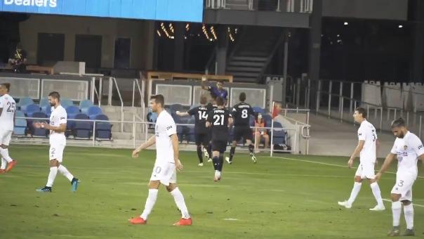 Marcos López marcó su primer gol en la MLS