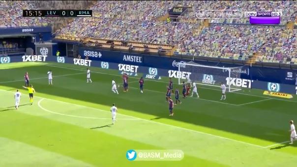Vinicius Junior y su gol ante Real Madrid.