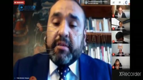 Intervención del investigado Pablo Morales Vásquez ante el juez Hugo Núñez.