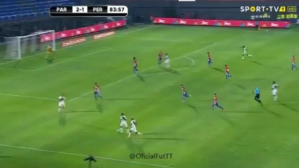Selección Peruana ante Paraguay.