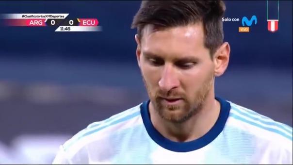 Lionel Messi marcó de penal en la victoria de Argentina  ante Ecuador