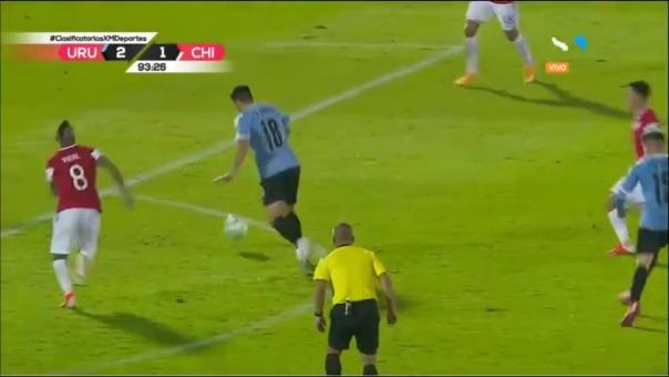 Maximiliano Gómez marcó el segundo gol de Uruguay ante Chile
