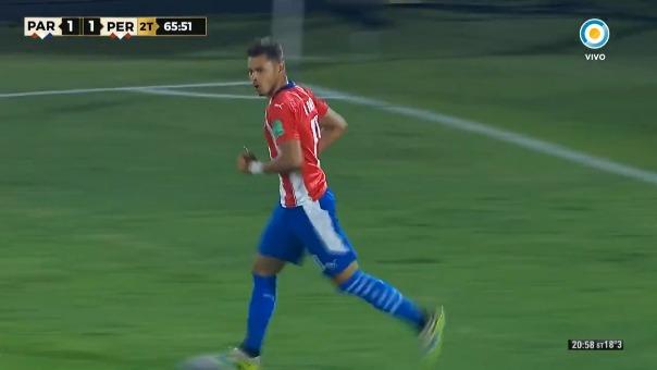 Primer gol de Ángel Romero ante Perú