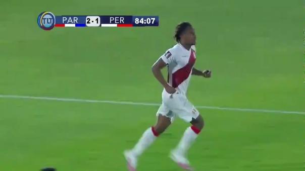 Segundo gol de André Carrillo ante Paraguay