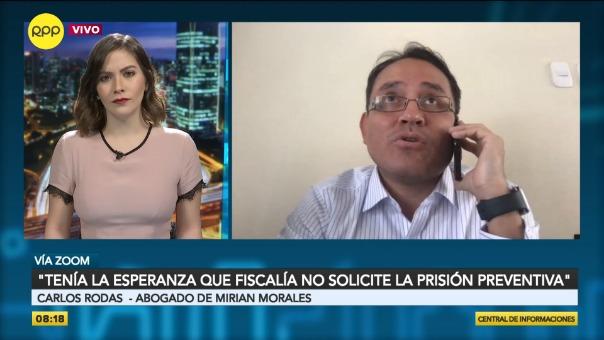 Carlos Rodas, abogado de Mirian Morales.