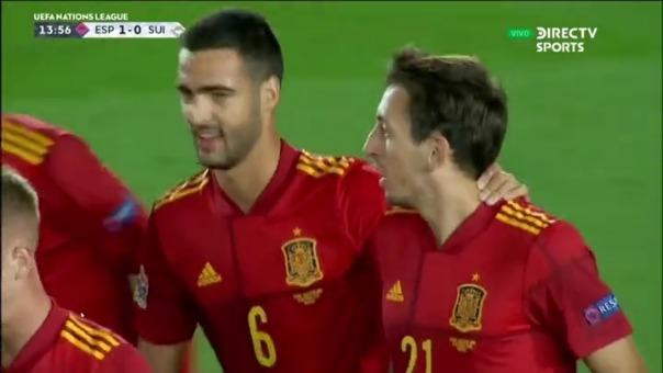 Mikel Oyarzabal marcó el primero de España ante Suiza