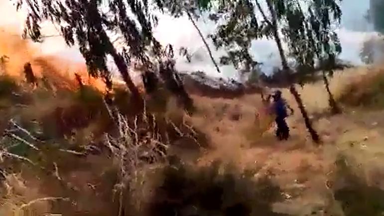 La víctima intentó evitar que el fuego alance la chacra de su suegro en el anexo de Tastabamba.