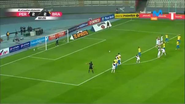 Segundo gol de Neymar frente a Perú