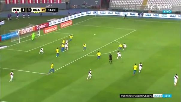 Gol de Renato Tapia ante Brasil