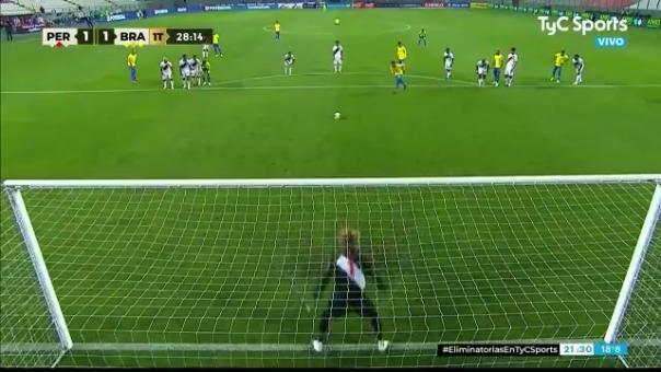 Primer gol de Neymar ante Perú
