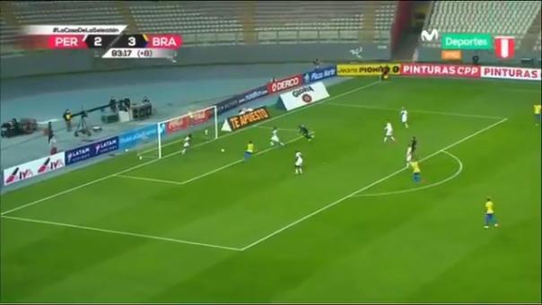 Tercer gol de Neymar frente a Perú