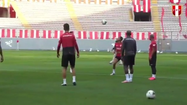 Así fue el último entrenamiento de Perú en el Nacional
