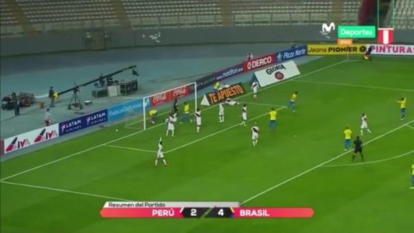 Perú perdió 4-2 ante Brasil