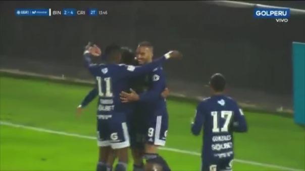 Emanuel Herrera marcó un triplete en el duelo Sporting Cristal vs Binacional