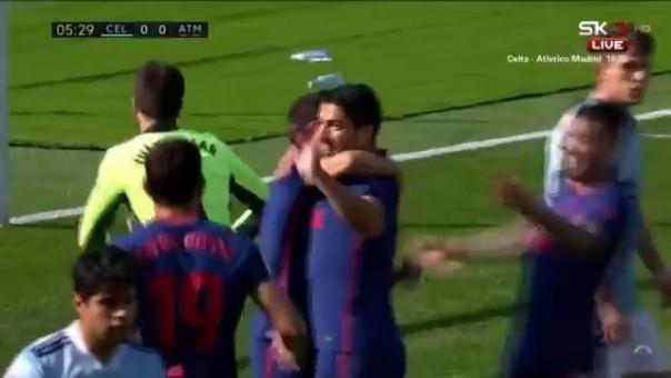 Gol de Luis Suárez ante Celta de Vigo