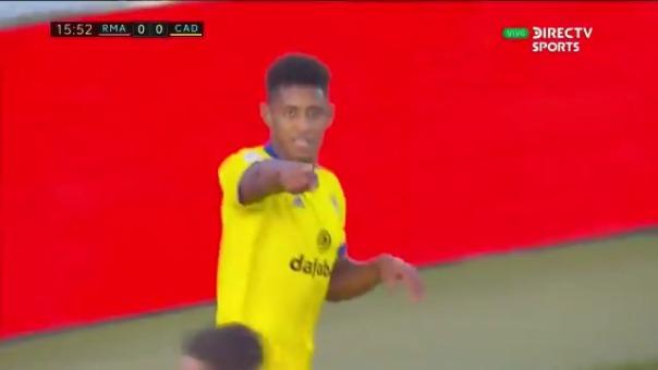 Gol de Cucho Lozano al Real Madrid