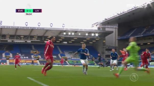 Lesión de Virgil van Dijk ante Everton