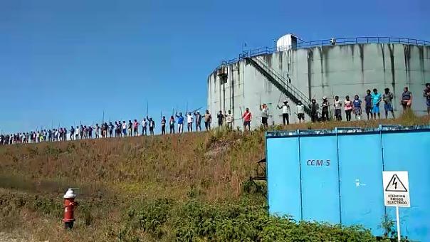 Los manifestantes permanecen desde hace 21 días en la estación 5 del Oleoducto Norperuano.