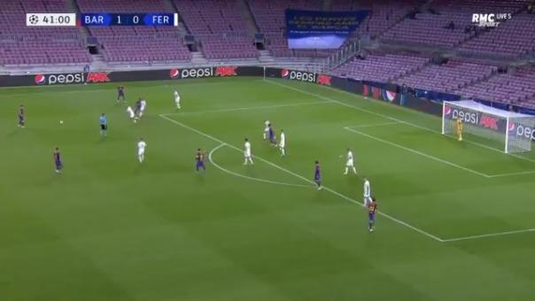 Gol de Ansu Fati ante Ferencvaros