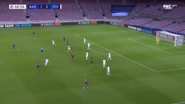 Gol de Ansu Fati ante Ferencváros