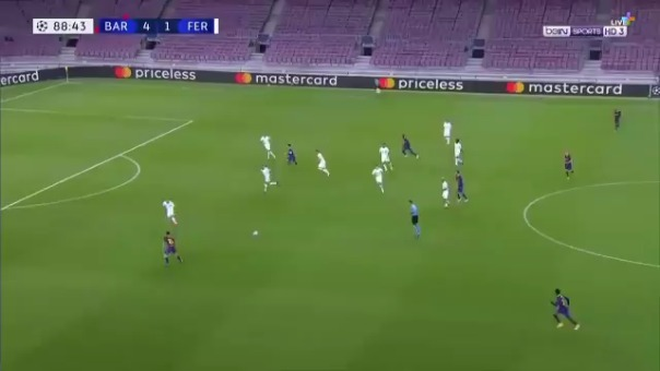 Gol de Ousmane Dembelé ante Ferencváros