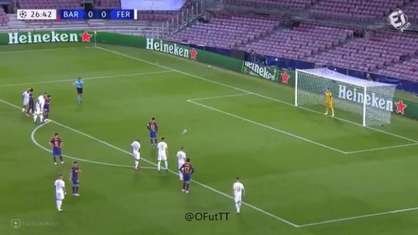 Gol de Lionel Messi ante Ferencvaros
