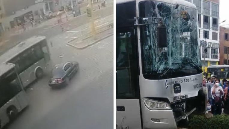El accidente se registró cerca de la estación Milagro del Metropolitano
