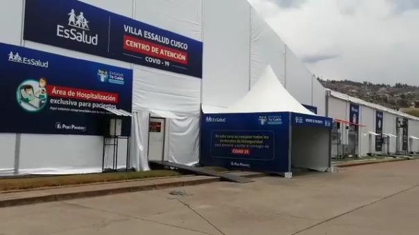 La Villa EsSalud instalada para atender a pacientes con la COVID-19 no será recibida por EsSalud Cusco, porque presenta deficiencias.