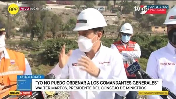 Walter Martos se volvió a referir al intento para vacar al presidente Martín Vizcarra.