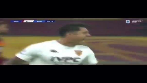 Gol de Gianluca Lapadula a Roma en la Serie A