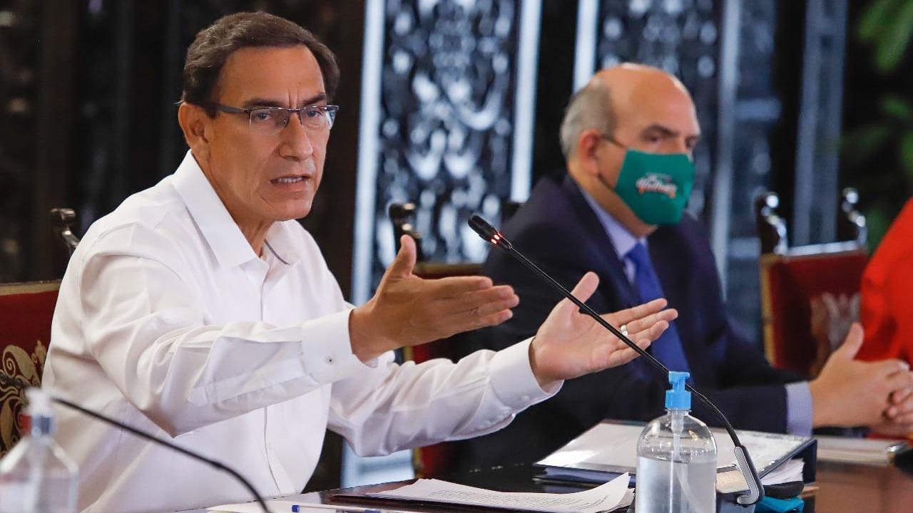 Presidente Vizcarra ofrece una nueva conferencia de prensa.